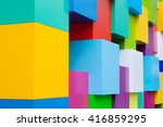 abstract colorful architectural ... | Shutterstock . vector #416859295