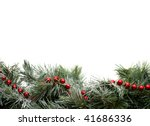a green garland border with red ... | Shutterstock . vector #41686336