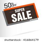 super sale banner icon art web... | Shutterstock .eps vector #416864179