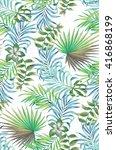 seamless floral pattern.... | Shutterstock . vector #416868199