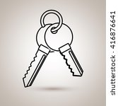 key isolated design  | Shutterstock .eps vector #416876641