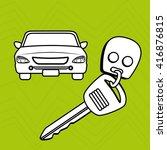 rent a car design  | Shutterstock .eps vector #416876815