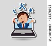 technical support design  | Shutterstock .eps vector #416878915