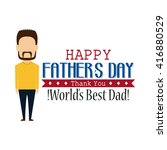 isolated dad icon with a beard... | Shutterstock .eps vector #416880529
