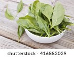 spinach. spinach leaves in a...   Shutterstock . vector #416882029