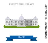 presidential palace in port au... | Shutterstock .eps vector #416887339
