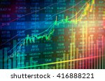 statistic graph of stock market ...