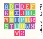 pastel letters of the alphabet  ... | Shutterstock .eps vector #416914981