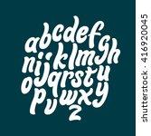 alphabet letters. lettering... | Shutterstock .eps vector #416920045