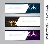 vector design banner background. | Shutterstock .eps vector #416934637