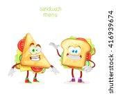 character mascot sandwich two... | Shutterstock .eps vector #416939674