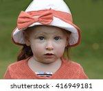 cute little girl in a park | Shutterstock . vector #416949181