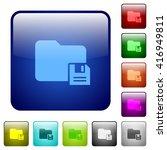 set of color save folder glass...