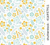 cute seamless pattern with... | Shutterstock .eps vector #416957911