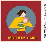a mother's care. the symbol of... | Shutterstock .eps vector #416963485
