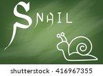 illustration of alphabet   the...   Shutterstock . vector #416967355