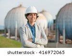 successful independent engineer ... | Shutterstock . vector #416972065
