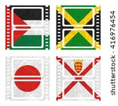 nation flag. film recycled... | Shutterstock . vector #416976454