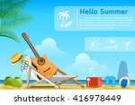 vacation on the beach... | Shutterstock .eps vector #416978449