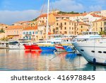 A View Of Calvi Port With...