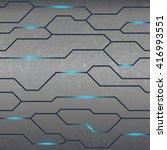 technology textured background | Shutterstock .eps vector #416993551