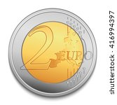 two euro coin vector... | Shutterstock .eps vector #416994397