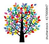 Tree Of  Colorful Leaf