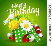 vector illustration of gift box ... | Shutterstock .eps vector #417008905