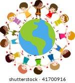 children and earth | Shutterstock .eps vector #41700916