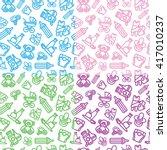 children seamless pattern   Shutterstock .eps vector #417010237