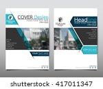 blue technology annual report... | Shutterstock .eps vector #417011347
