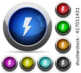 set of round glossy flash...