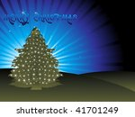 christmas light appearing on... | Shutterstock .eps vector #41701249