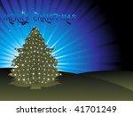 christmas light appearing on... | Shutterstock .eps vector #41701249