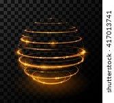 gold light sphere effect | Shutterstock .eps vector #417013741