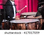 playing a drum. sound orchestra ... | Shutterstock . vector #417017059