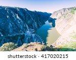 aldeadavila dam in... | Shutterstock . vector #417020215