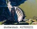 aldeadavila dam in... | Shutterstock . vector #417020221