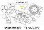 digitization of sound  tape and ... | Shutterstock .eps vector #417020299