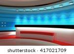 tv studio. news studio. the...   Shutterstock . vector #417021709