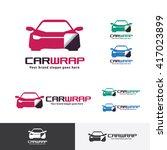 car sticker wrap logo template | Shutterstock .eps vector #417023899