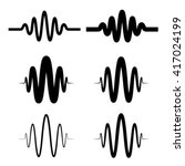 Sinusoidal Sound Wave Black...
