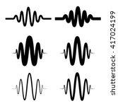 Sinusoidal Sound Wave Black...