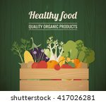 healthy freshly harvested... | Shutterstock .eps vector #417026281