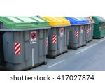 Dumpster For Recycling With...