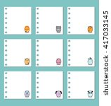 collection of note papers ... | Shutterstock .eps vector #417033145