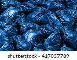 background pile of trash bags ... | Shutterstock . vector #417037789