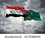 3d illustration of syria  ... | Shutterstock . vector #417038644