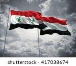3d illustration of syria  ... | Shutterstock . vector #417038674