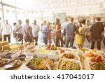 brunch choice crowd dining food ... | Shutterstock . vector #417041017